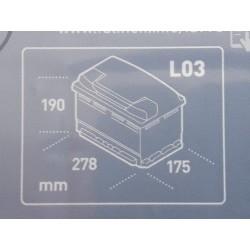 Batterie automobile 12v75