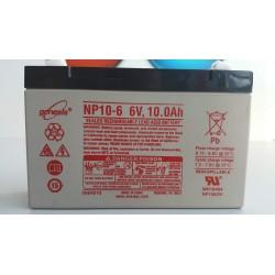 Batterie NP7-6 6V 7AH dim: L 151 x P 33 x H 100