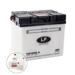 LP DRY+ACID Y60-N30L-A  12V 30Ah